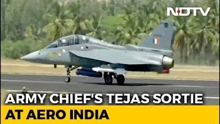 Army Chief Flies In Made-In-India Tejas Fighter Jet For The First Time - NDTV