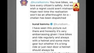 Actor Kunal Khemu fined for riding bike without helmet after his picture went viral - ABPNEWSTV