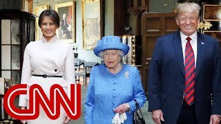 Queen Elizabeth II welcomes Trump to Windsor Castle - CNN