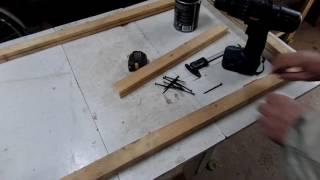 Как  сделать   двери из отходов материала для дачного сарая своими руками в дачной мастерской