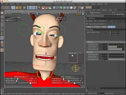 Arkimed-VFX Rigging test with Cinema 4D R12