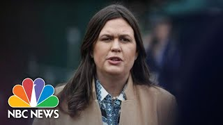 Sarah Sanders Defends President Trump Rhetoric Following Coast Guard Officer's Arrest | NBC News - NBCNEWS