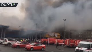 Huge blaze prompts massive evacuation at St. Pete mall, Russia - RUSSIATODAY