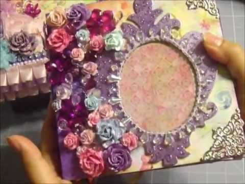 Fairy Flora Mini Album w/ Matching Box (WARNING- Lots of Sparkles! LOL!)