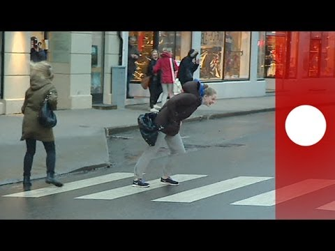 People Walking In The Wind In Norway