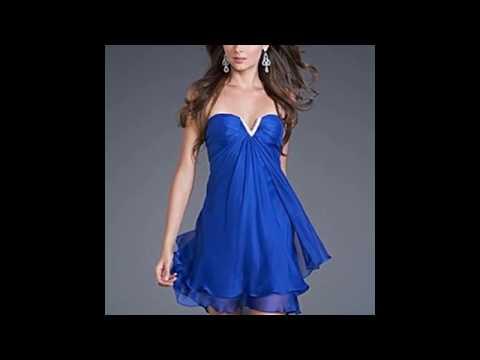 Синее платья 2017-2018