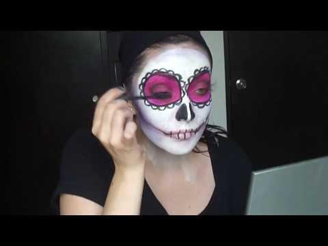 Sugar skull makeup tutorial / Calavera de azúcar tutorial de maquillaje
