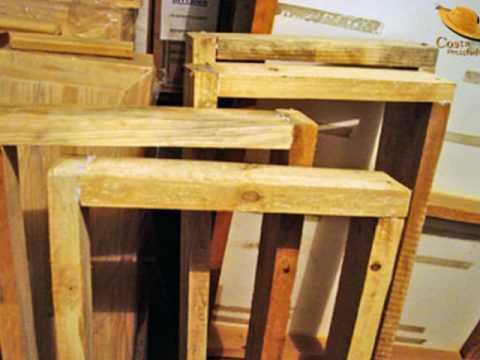 Fabricação Bau de Madeira Reciclada