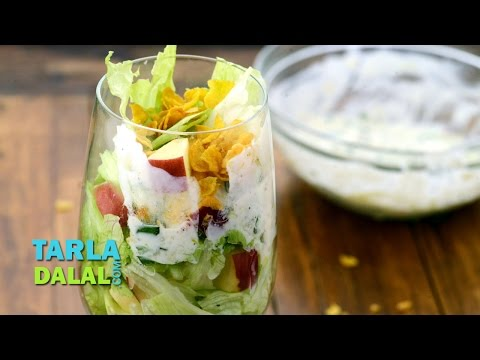 Lettuce and Apple Salad with Lemon Dressing by Tarla Dalal