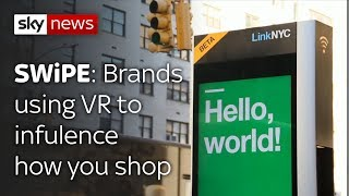Swipe   Upgraded phone boxes & brands using VR to influence how you shop - SKYNEWS