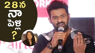 Prabhas One Word Hilarious Punch To Media Question About His Marriage | TFPC - TFPC