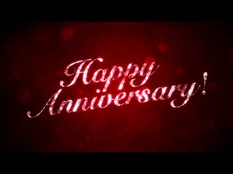 Happy Anniversary on Red - HD Background Loop