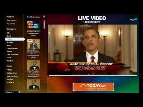 Obama's Speech Announcement on the death of Osama Bin Laden HD