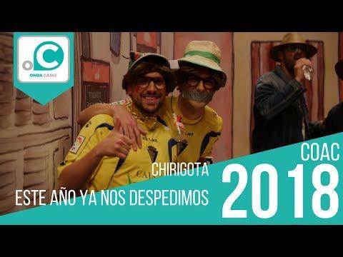 La agrupación Este año ya nos despedimos llega al COAC 2018 en la modalidad de Chirigotas. Primera actuación de la agrupación para esta modalidad.
