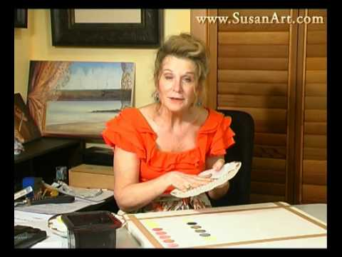 My Watercolor Mixing Palette - Susan Harrison-Tustain