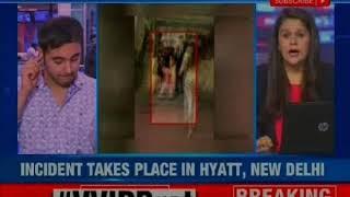 VVIP Hooliganism: MLA's son brandishes gun outside Delhi hotel - NEWSXLIVE