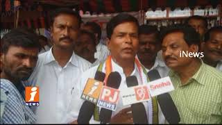 Congress Leader Chinna Reddy Protest Over Farmers Coordination Committee In Wanaparty | iNews - INEWS