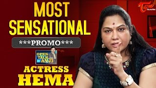 Actress Hema Exclusive Interview Promo | Open Talk with Anji | #08 - TELUGUONE