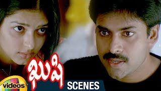 Pawan Kalyan Flirts with Bhumika | Kushi Telugu Movie Scenes | Ali | Mango Videos - MANGOVIDEOS