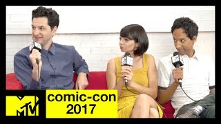 Ben Schwartz, Danny Pudi, & Kate Micucci on 'DuckTales' | Comic-Con 2017 | MTV - MTV