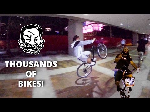 Miami's huge bike ride - Critical Mass in Miami and Fort Lauderdale