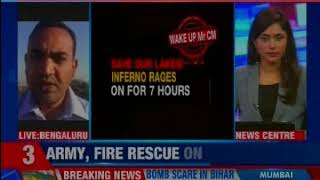 Bengaluru: Bellandur Lake on fire again, is Bellandur's burning is not Siddaramaiah's priority? - NEWSXLIVE