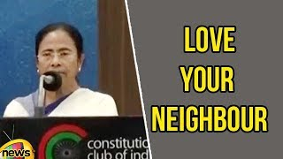 CM Mamata Banerjee on Love Your Neighbour at Constitution Club | Mamata Banerjee Speech | MangoNews - MANGONEWS