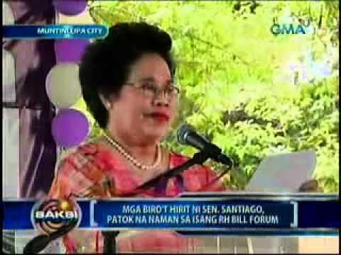 Sen.Miriam Santiago pick-up lines