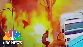 Deadly Syria Blast Captured On Surveillance Video | NBC News - NBCNEWS