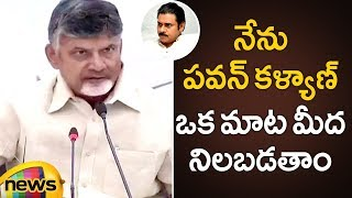 Chandrababu Naidu Supports Pawan Kalyan For The First Time | Chandrababu Press Meet | Mango News - MANGONEWS
