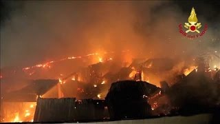 Fire Ravages Shopping Mall in Northern Italy - WSJDIGITALNETWORK