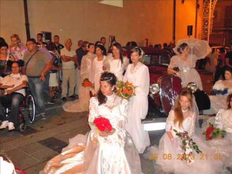sfilata abiti da sposa anni 50 60 70 80 90 a san michele di ganzaria (ct)26-agosto-2013