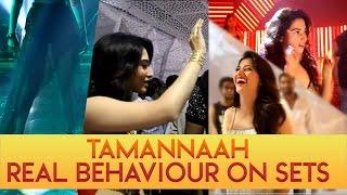 Tamannaah real behaviour on sets    Behind the scenes video of Vishal's 'Okkadochaadu - IGTELUGU