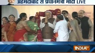 PM Modi Live from Ahemdabad Exclusive - INDIATV