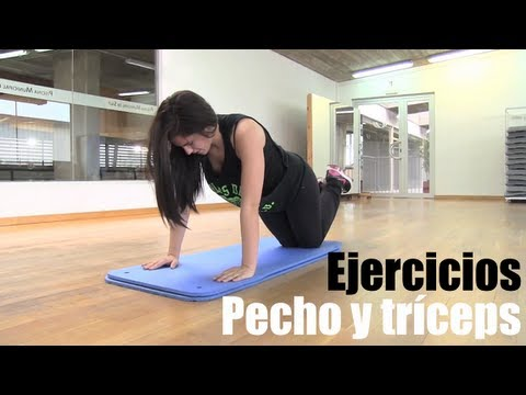 Rutina de ejercicios para pecho y trceps
