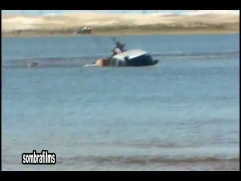 tramandai-afogando a perereca ..quase um submarino