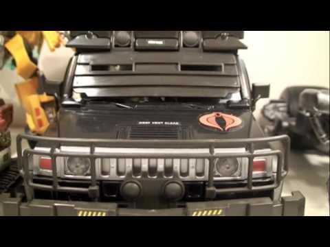 GI Joe Rise of Cobra Movie Steel Crusher APV with Nitro-Viper Toy Review