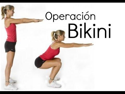 Operación bikini - Ejercicios glúteos y piernas