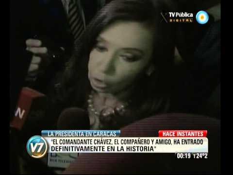 Cristina considera que Chávez definitivamente ha ingresado a la historia