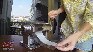 Как пользоваться паста-машиной. My Thai. Материалы для флористики из Таиланда