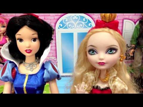 Princesas, Rainha Má e Ever After High por Julia