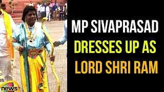 TDP's Naramalli Sivaprasad Dresses Up As Lord Shri Ram | TDP MP's Protest in Parliament 2018 - MANGONEWS