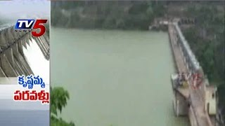 Srisailam Dam Four Gates Opened : TV5 News - TV5NEWSCHANNEL