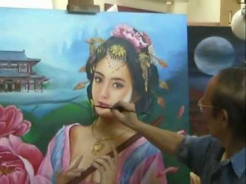 Oil Painting of Yang Guifei by Taveepong Limmakorn