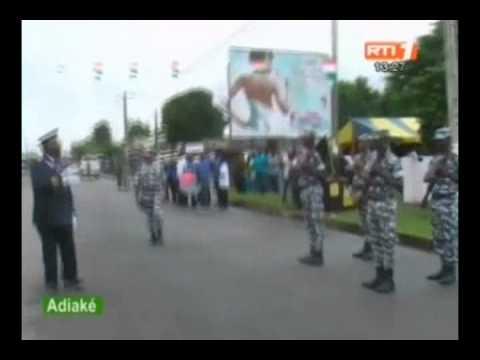 Célébration du 54ème anniversaire de la Côte d`Ivoire à  Rubino, Grand morié, Vavoua