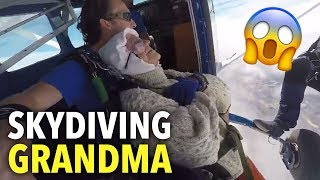 Fearless 102-year-old grandma completes 14,000ft skydive! - THESUNNEWSPAPER