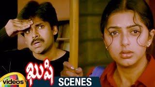 Pawan Kalyan and Bhumika Search for Each Other   Railways Station Scene   Kushi Telugu Movie Scenes - MANGOVIDEOS