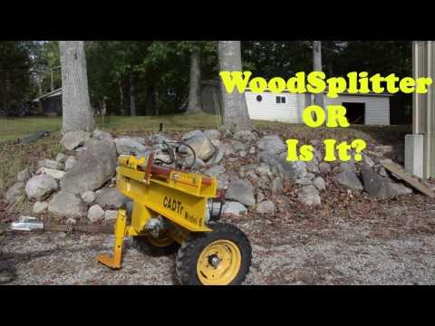 Wood Splitter That Does More Than Split Wood - Two Stage Wedge