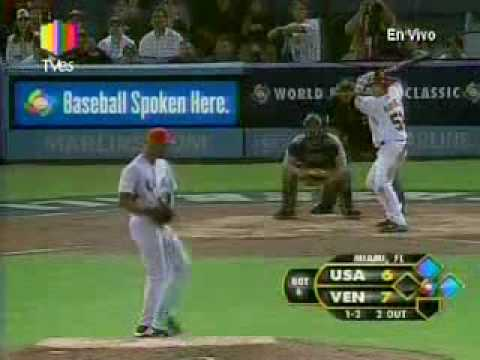 CLASICO MUNDIAL DE BEISBOL 2009 VENEZUELA 10 EEUU 6 JONRON DE MAX RAMIREZ CON MUSICA Y TODO