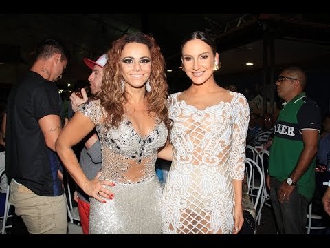 Claudia Leitte e Viviane Araújo no lançamento do cd das escolas de samba para 2015